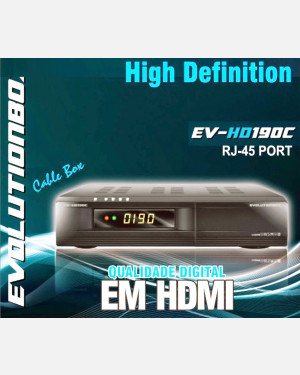 Receptor Evolution box Ev 190c Cabo HD 1080p 3D HDMI Wifi